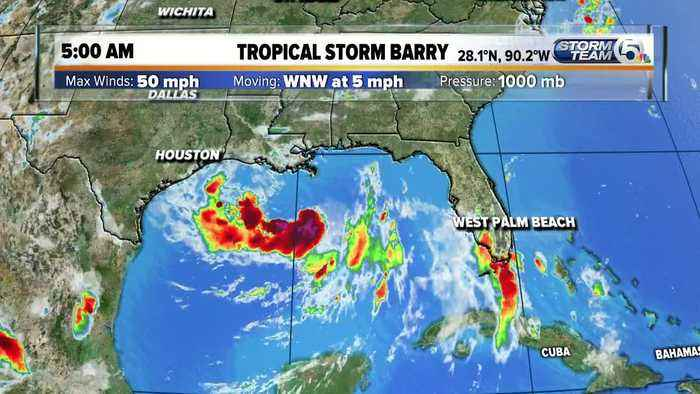 Tropical Storm Barry Friday morning update (7/12/19)