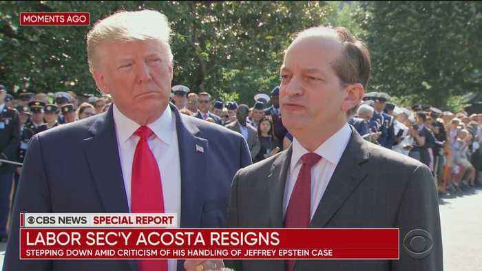 CBS News Special Report: President Trump and Alex Acosta Announce Acosta's Resignation