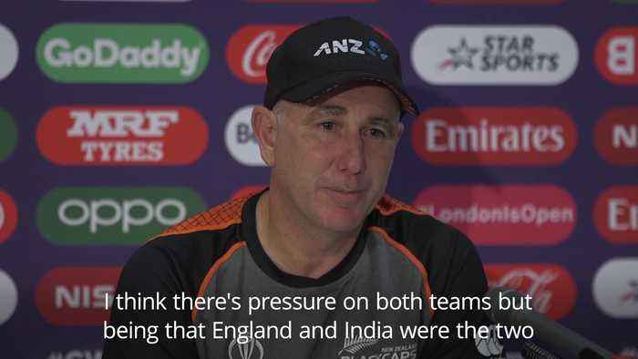 New Zealand coach: More pressure on England ahead of Cricket World Cup final