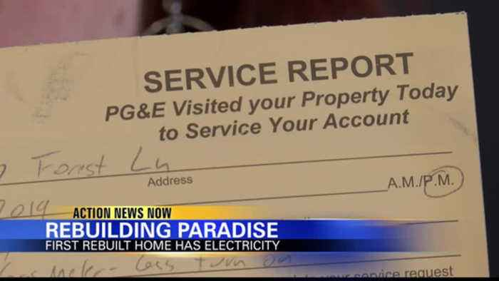 First house in Paradise gets electricity