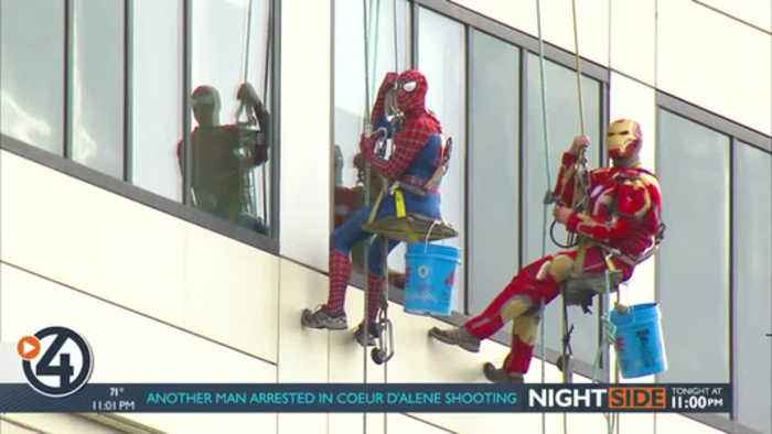 Superheroes descend from Sacred Heart Children's for a good cause