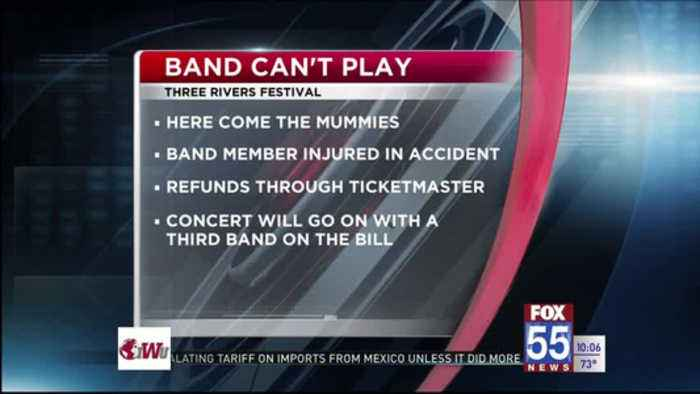 Band can't play Three Rivers Festival concert