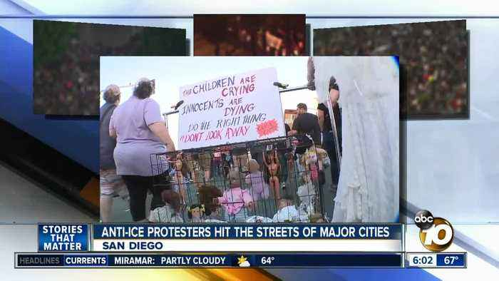 Anti-ICE protesters hit streets of major cities