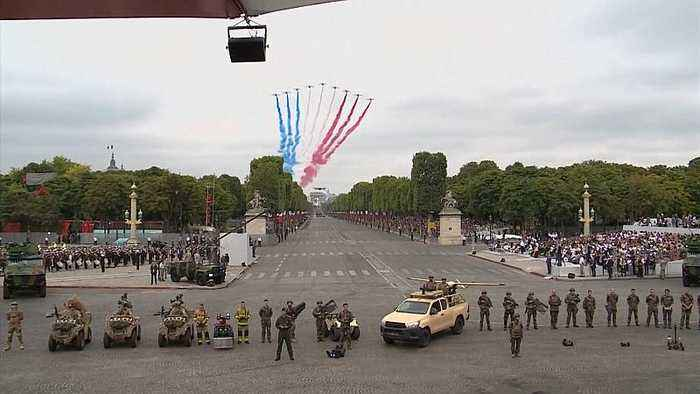 France: Macron presides over Bastille Day military parade