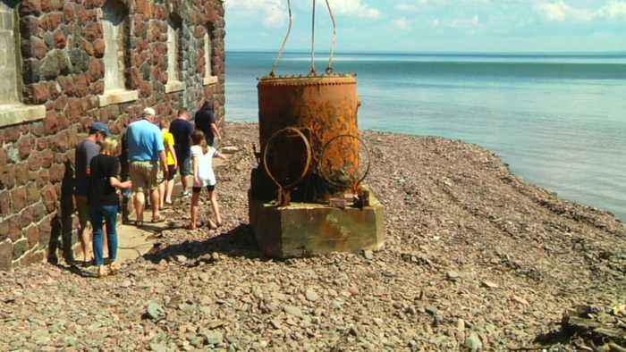 Crews Unearth Diving Bell From Glensheen Mansion