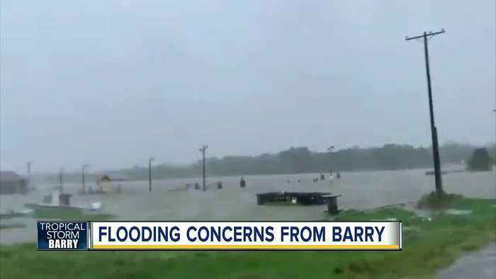 Tropical Storm Barry moves slowly over Louisiana, bringing heavy rains with life-threatening floods
