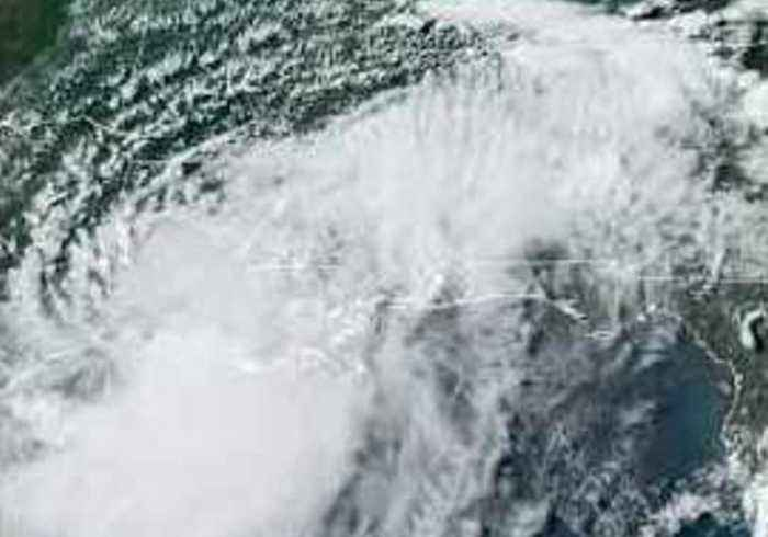 Satellite Shows Tropical Storm Barry Moving Over Louisiana