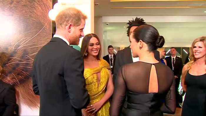 Meghan and Harry meet Beyonce at 'Lion King' premiere
