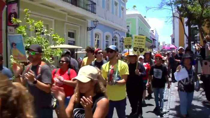 Protesters demand resignation of Puerto Rico governor