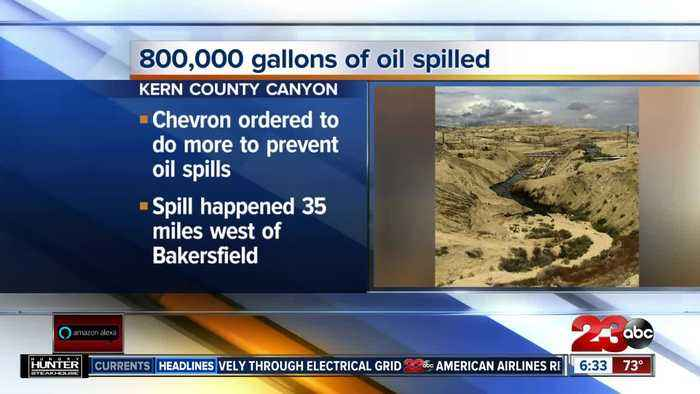 Kern County Canyon oil spill