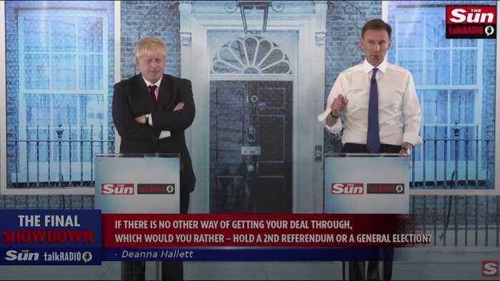 Boris Johnson and Jeremy Hunt clash over Brexit deadline in final debate