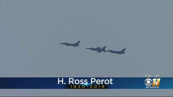 Dallas Flyover A Part Of Farewell For H. Ross Perot