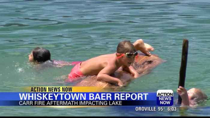 hiskeytown Lake seeing increase in debris one year after Carr Fire