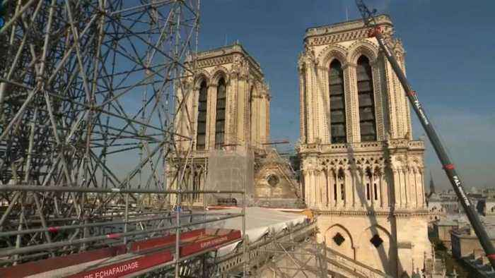Full extent damage to Notre-Dame seen during minister's visit