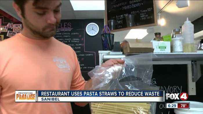 Local restaurant uses pasta straws to reduce plastic waste
