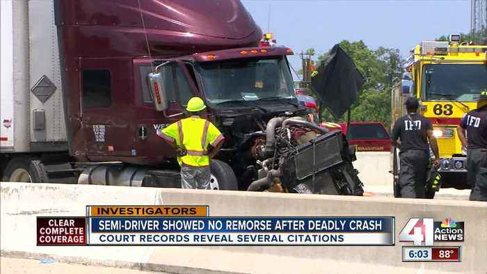 Truck company involved in fatal wreck has long history of driving infractions