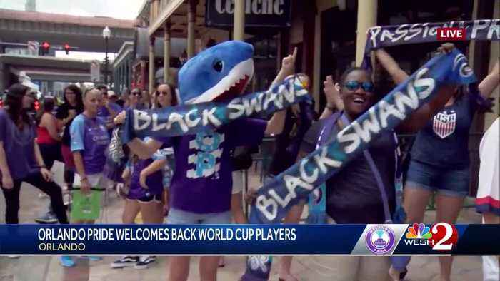 World Cup welcome back celebration held in downtown Orlando
