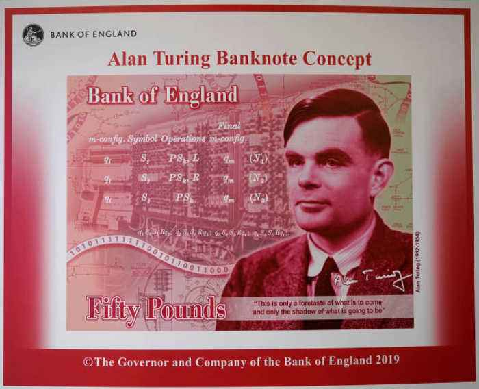 Alan Turing, Controversial World War II Codebreaker, Is Now the Face of the £50 Note