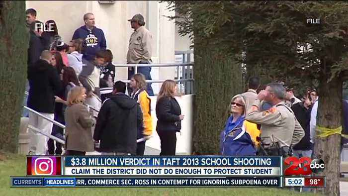 $3.8 million verdict in 2013 Taft school shooting