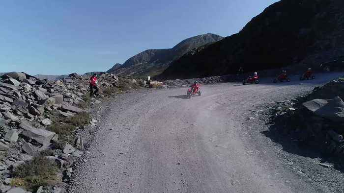 Mountain karting opens in Welsh quarry