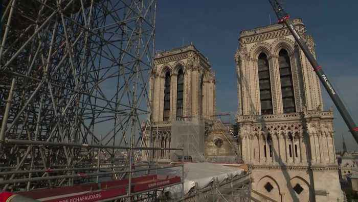 Restoration work continues on Notre Dame cathedral after fire