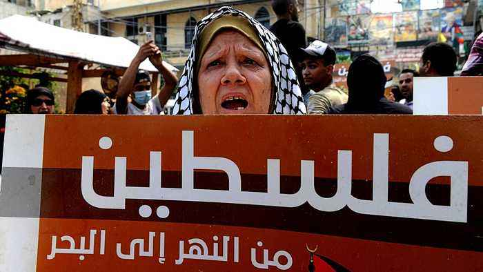 Lebanon's Palestinian refugees protests against labour crackdown