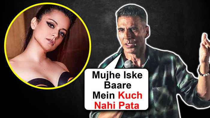 Akshay Kumar AVOIDS Reacting On Kangana Ranaut Judgemental Hai Kya Controversy