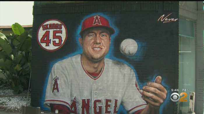 Local Artist Pays Tribute To Late Angel's Pitcher Tyler Skaggs With Mural