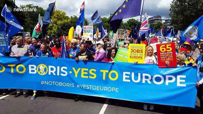 'No to Boris, Yes to Europe' pro-EU protest held in London