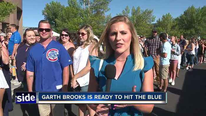 Garth Brooks is ready to hit the blue