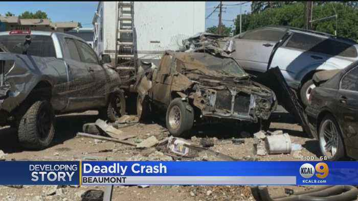 SUV Allegedly Going 90 MPH Flies Off Freeway Fatally Striking Auto Body Worker