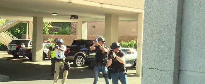 Las Vegas Metro police, UMC team up for active shooter training