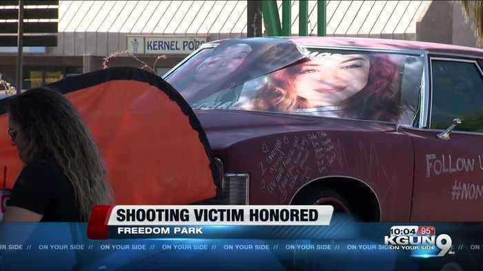 Car show held in honor of victim shot on I-19