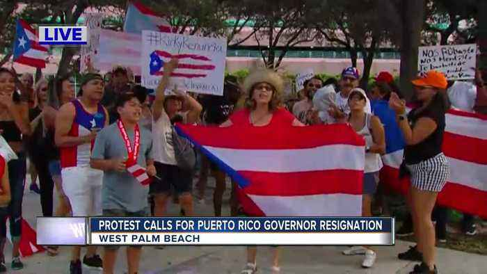 Protest calls for Puerto Rico Governor resignation