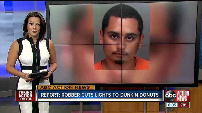'Tight on money:' Pinellas man accused of shutting off power to Dunkin Donuts in robbery attempt