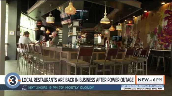 Restaurants back in business after power outage from MGE fire
