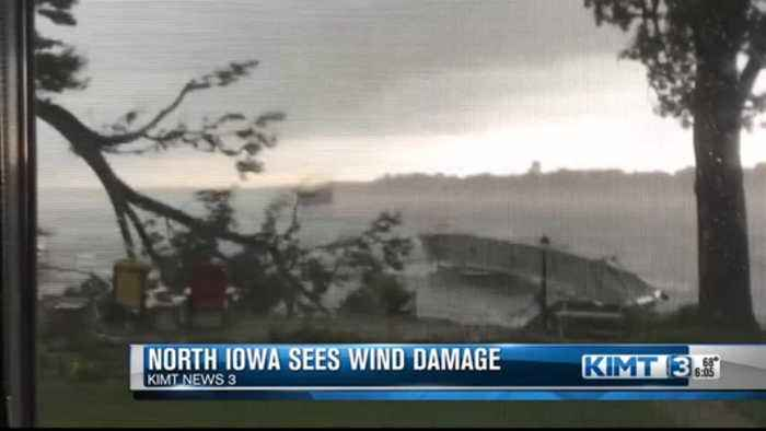 North Iowa cleaning up after Saturday morning storms