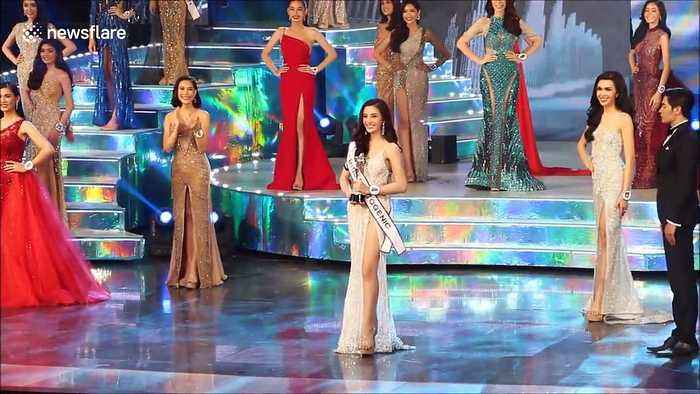 Transgender women compete at Miss Tiffany's Universe beauty contest in Thailand