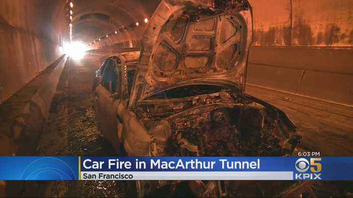 Hwy 101 Lanes Reopened in S.F. Presidio Following Car Fire in MacArthur Tunnel