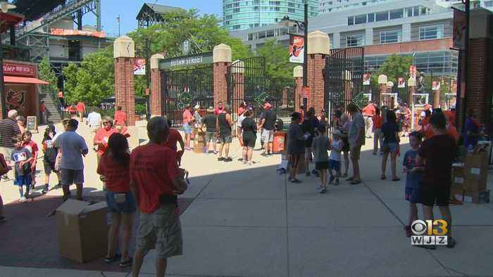 Orioles Host 33rd Annual Food Drive For Maryland Food Bank