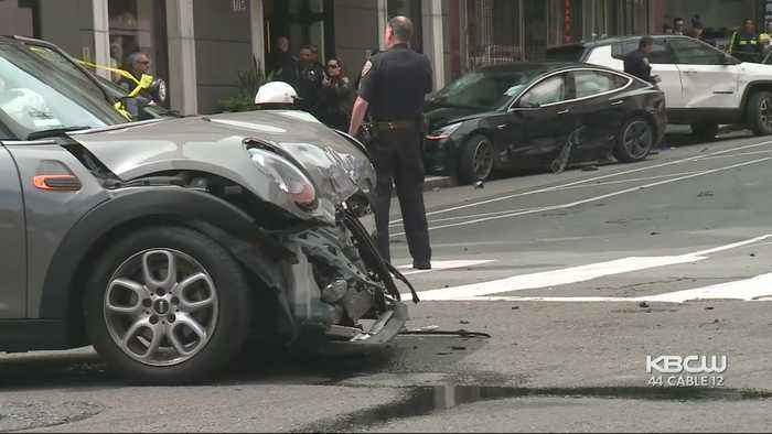 Man Dead After Speeding Driver Runs Red Light, Crashes Into Tourists At S.F. Intersection