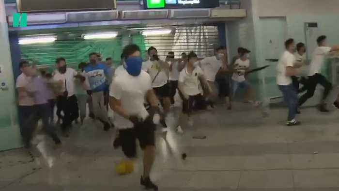 Hong Kong Anti-Government Protesters Attacked By Gangs