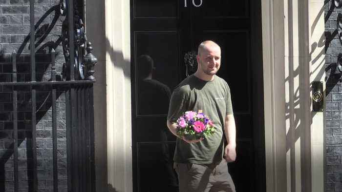 Flowers delivered to Theresa May on her penultimate day in Downing Street