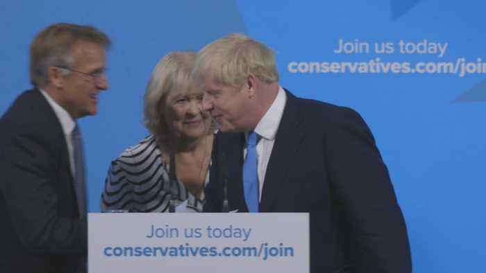 Moment Boris Johnson is announced new Conservative Party leader