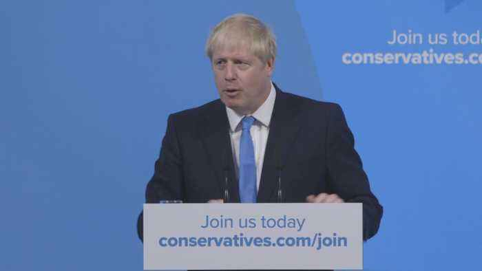 Boris Johnson thanks Tory members following leadership victory