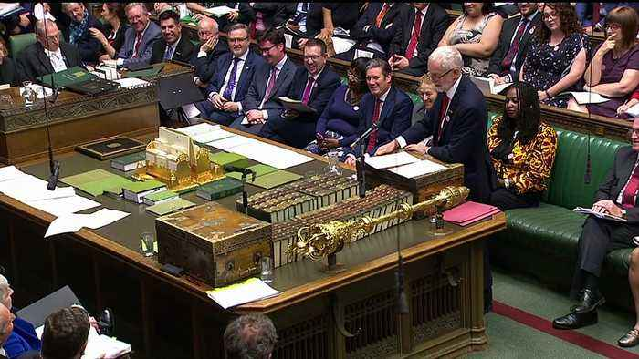 Corbyn pays tribute to Theresa May in her final PMQs