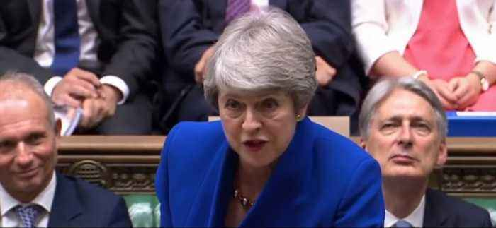 'Time for Him to Do the Same': Resigning May Delivers Parting Shot to Corbyn