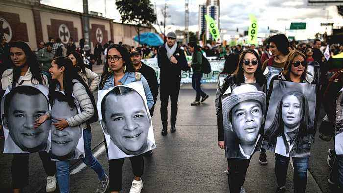 Colombians march to protest against killing of activists