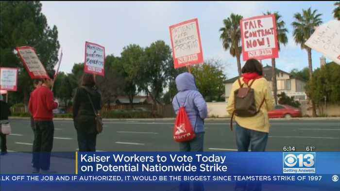 Kaiser Permanente Workers Start Voting On Whether To Authorize Strike