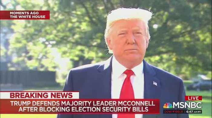 Trump Defends McConnell: 'Fake News' Washington Post Is a Russian Asset, Mitch Loves Our Country